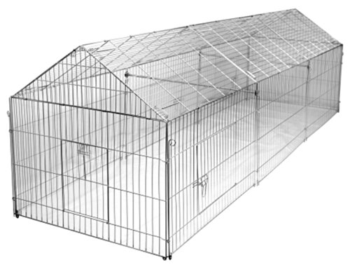 Hühnergehege freilaufgehege 330 x 103 x 103 cm freigehege für kaninchen hasen