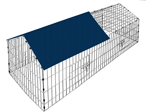 kaninchen und kleintier freilaufgehege inkl sonnenschutz kaninchenstall kaufen. Black Bedroom Furniture Sets. Home Design Ideas