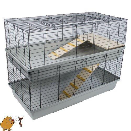 kaninchenk fig doppel stock 120 kaninchenstall kaufen. Black Bedroom Furniture Sets. Home Design Ideas