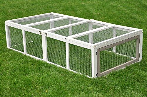 nanook hasen kaninchen kleintier freigehege auslauf m hrchen grau wei xl 180 90 cm. Black Bedroom Furniture Sets. Home Design Ideas