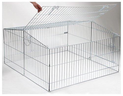 kaninchen freilaufgehege easy mit sonnenschutz kerbl xxl. Black Bedroom Furniture Sets. Home Design Ideas