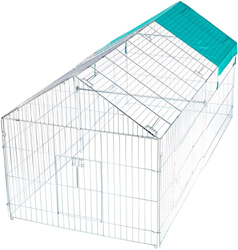 kaninchen freilaufgehege kerbl xxl verzinkt mit sonnenschutz 220 x 103 x 103 cm. Black Bedroom Furniture Sets. Home Design Ideas