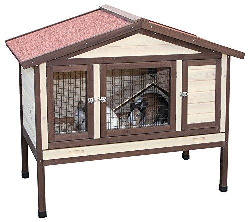 kaninchenhaus 4 seasons deluxe mit heizung kerbl einst ckig 130 x 66 x 110 cm. Black Bedroom Furniture Sets. Home Design Ideas