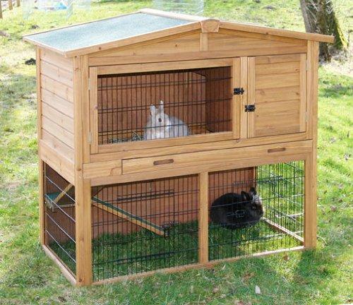 kaninchenhaus la vita kerbl xxl mit unterfreilauf 130 x 78 x 115 cm kaninchenstall kaufen. Black Bedroom Furniture Sets. Home Design Ideas