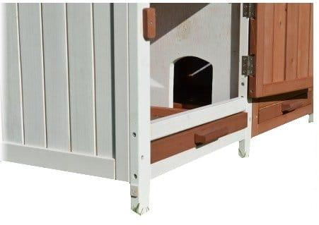 kaninchenstall bs doppelst ckig schlossoptik f e kaninchenstall kaufen. Black Bedroom Furniture Sets. Home Design Ideas