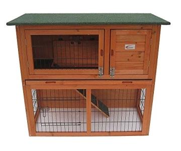 Kaninchenstall, Bunny Business, doppelstöckig, ausziehbare Reinigungsschale, Front