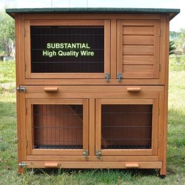 kaninchenstall bunny business doppelst ckig mit auslauf kaninchenstall kaufen. Black Bedroom Furniture Sets. Home Design Ideas
