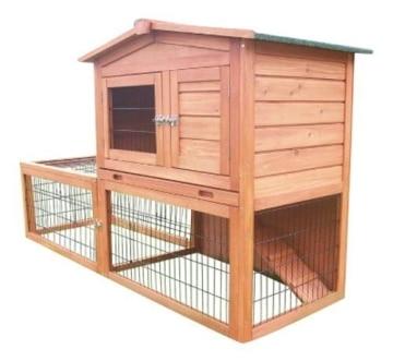 kaninchenstall bunny business doppelst ckig mit auslauf und abdeckung kaninchenstall kaufen. Black Bedroom Furniture Sets. Home Design Ideas