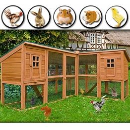 Kaninchenstall, Deuba, XXL, Gitter-Kleintierstall mit 2 Etagen
