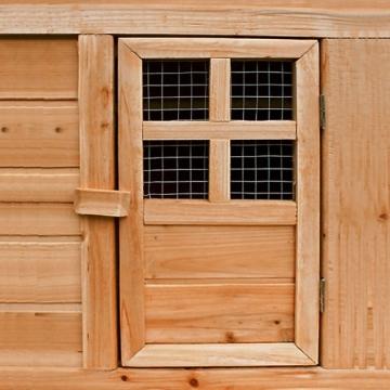 Kaninchenstall, Deuba, XXL, Gitter-Kleintierstall mit 2 Etagen, außen