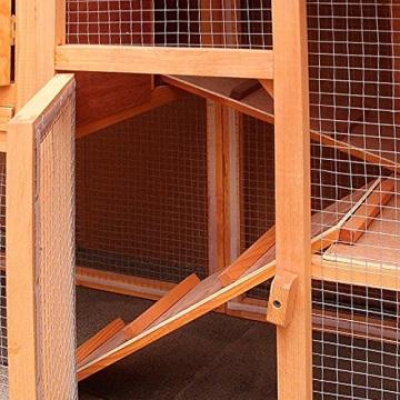 Kaninchenstall, Deuba, XXL, Residenz mit 3 Etagen, Rampe