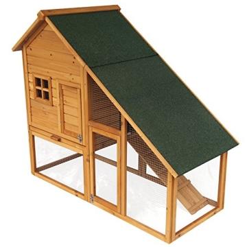 Kaninchenstall, Eugad, doppelstöckig, schräges Dach