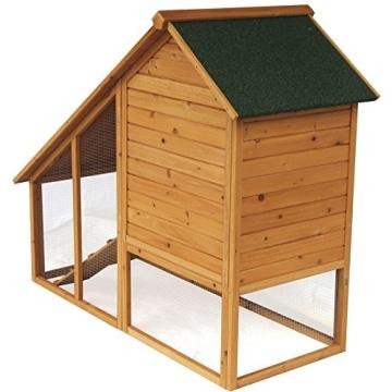 Kaninchenstall, Eugad, doppelstöckig, schräges Dach, Rückseite