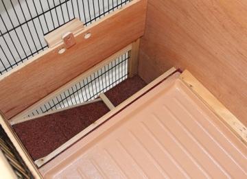 Kaninchenstall Indoor, Kerbl, doppelstöckig, 100 x 54,5 x 118 cm, innere Ebene
