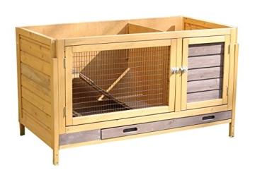 Kaninchenstall Multiplex Addition, Kerbl, mit Etagenelementen, 108 x 56,5 x 62,5 cm