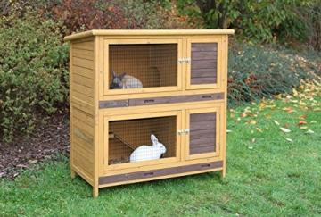 Kaninchenstall Multiplex Addition, Kerbl, mit Etagenelementen, 108 x 56,5 x 62,5 cm, doppelstöckig