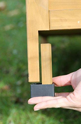 Kaninchenstall Multiplex Addition, Kerbl, mit Etagenelementen, 108 x 56,5 x 62,5 cm, erweiterbare Füße