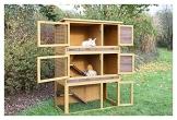 Kaninchenstall Multiplex Addition, Kerbl, mit Etagenelementen, 108 x 56,5 x 62,5 cm, XXL, mehrstöckig, geöffnet